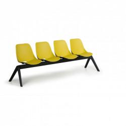 Moderní lavice SHELL, 4x sedák