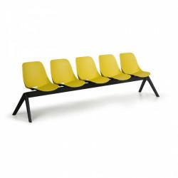 Moderní lavice SHELL, 5x sedák