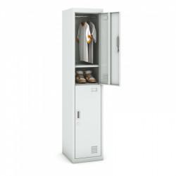 Kovová šatní skříň HUGO dvoudvéřová