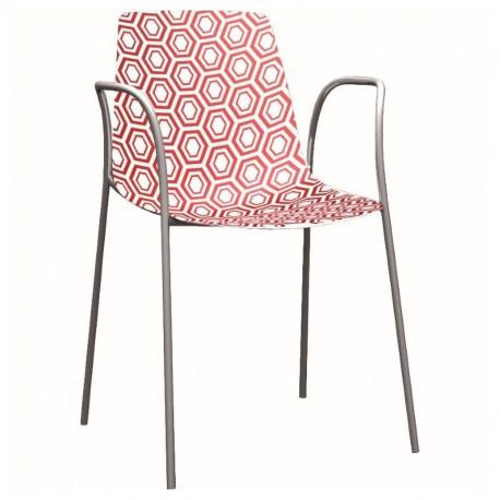 Designová židle EUFORA - s područkami