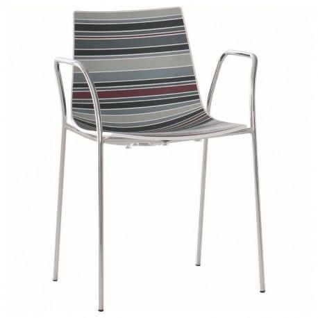Designová židle COLOR - s područkami