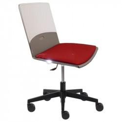 Otočná židle DUE - čalouněný sedák