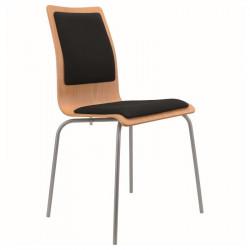 Židle ELI - čalouněný sedák a opěrák