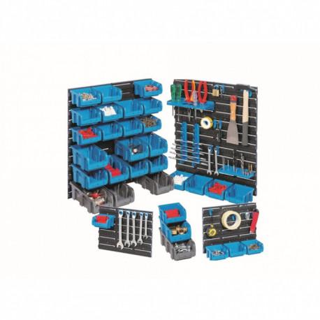 Plastové stěny včetně boxů a držáků nářadí