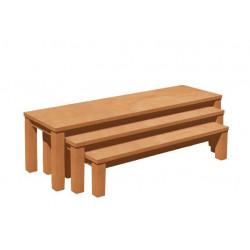 Sada 3 laviček - sedák umakart