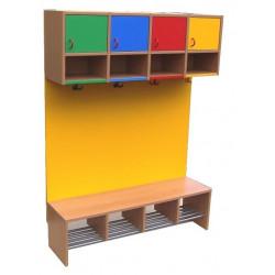 Lavička pro 4 děti - barevná