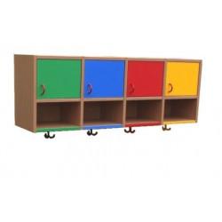 Horní skříňky pro 4 děti