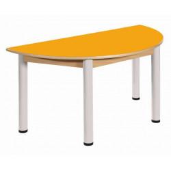 Stůl půlkulatý 120 x 60 cm LAMINO