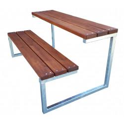 Školní venkovní lavice dvoumístná GAB