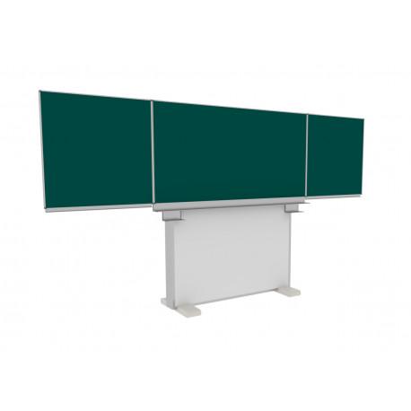 400x100 Volně stojící tabule Triptych na hliníkovém pojezdu