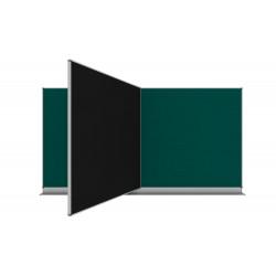 240x120 Nástěnná tabule Triptych s centrálním křídlem