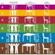 Sestava školní žákovské lavice a školní židle HUBERT - výškově stavitelná