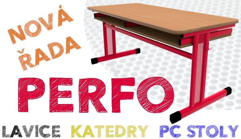 Školní lavice PERFO - jednomístná, dvoumístná, trojmístná