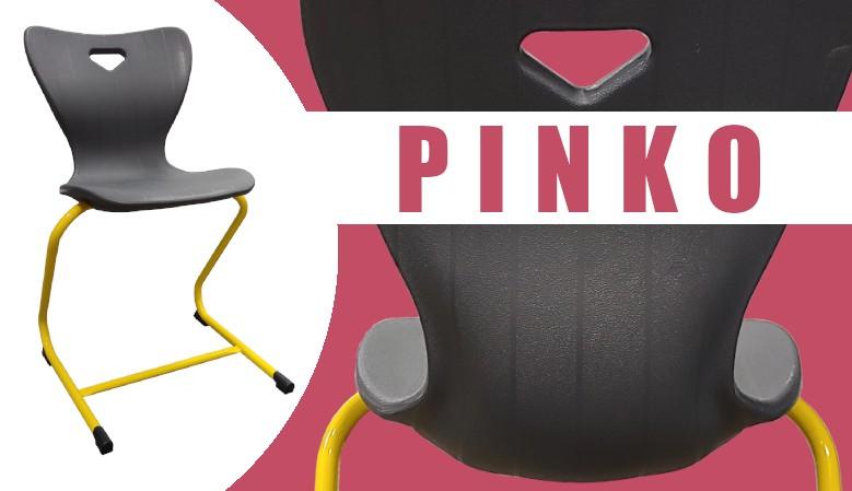 Školní stohovatelná pružná židle PINKO